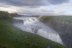 gullfoss Ισλανδία Στοκ Φωτογραφία