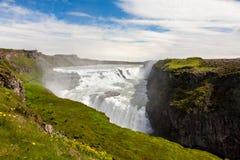 gullfoss καταρράκτης της Ισλανδ στοκ φωτογραφία