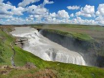 gullfoss Исландия падения стоковое изображение rf