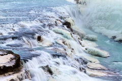 Gullfoss close up cascade Royalty Free Stock Images