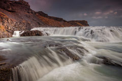 Gullfoss coulant librement Photo stock