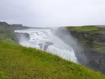 Gullfoss, de beroemde Ijslandse waterval, een deel van Gouden Cir Stock Foto