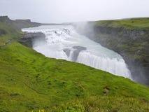 Gullfoss, de beroemde Ijslandse waterval, een deel van Gouden Cir Stock Afbeelding