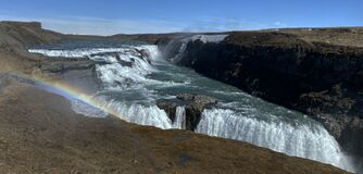 This is Gullfoss in english The Golden Waterfall.