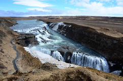 Gullfoss fall on the Iceland Royalty Free Stock Image