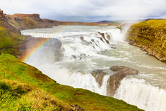 Gullfoss fall Iceland Royalty Free Stock Images