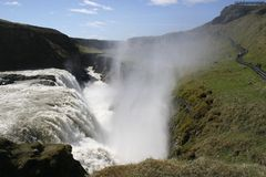 Gullfoss Falls Stock Photo
