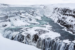 Gullfoss Frozen Majesty Royalty Free Stock Image