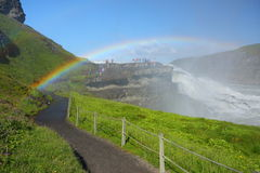 Gullfoss (Golden falls) Royalty Free Stock Photo
