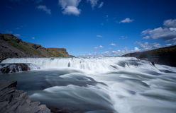 Gullfoss, Golden Falls. Image of the waterfall Gullfoss or Golden Falls which is located in south west Iceland Royalty Free Stock Photos