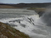 Gullfoss - Golden waterfall popular to visit. Popular with every tousist visiting Iceland Stock Photography