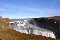 Gullfoss Gouden cirkel Zuid-IJsland Stock Foto's