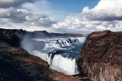 Gullfoss The Great Watefall, Iceland Stock Images
