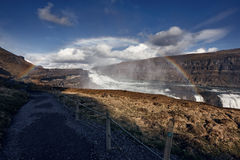 Gullfoss The Great Watefall, Iceland Royalty Free Stock Photography