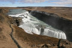 Gullfoss, in Iceland. royalty free stock photos