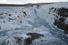 Gullfoss Iceland. Gullfoss is one of the most popular tourist attractions in Iceland Royalty Free Stock Photography