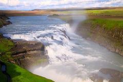 Gullfoss, IJsland Royalty-vrije Stock Foto's
