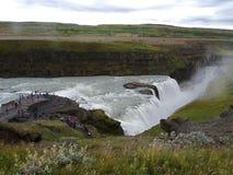 Gullfoss, IJsland Stock Afbeelding