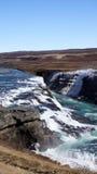 Gullfoss ijzige waterval in IJsland stock foto
