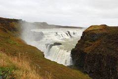 Gullfoss in Island Stockbild