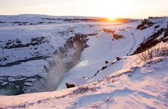 Gullfoss, Islandia Imagen de archivo