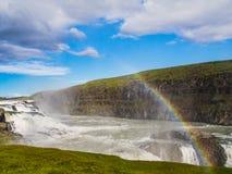 Gullfoss - Islandia waterfal imágenes de archivo libres de regalías