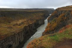Gullfoss klyfta, Island Fotografering för Bildbyråer
