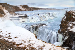 Gullfoss landscape Stock Photography