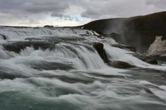 Gullfoss, a 32 metres waterfall in Iceland. Gullfoss, a 32 metres waterfall in the canyon of Hvita river in Iceland Stock Photos