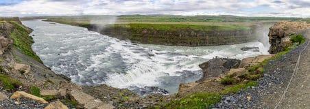 Gullfoss Panorama Stock Image