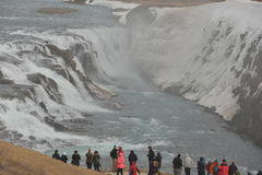 Gullfoss in shoulder season Iceland Stock Photos