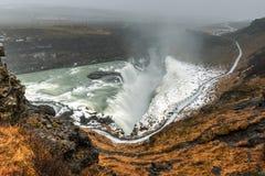 Gullfoss siklawa, Iceland Obraz Stock