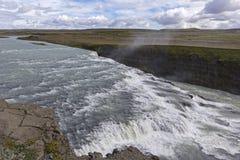 Gullfoss, una cascata iconica dell'Islanda Immagini Stock