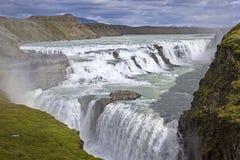 Gullfoss, una cascata iconica dell'Islanda Fotografia Stock
