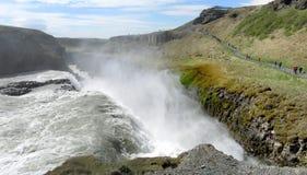 Gullfoss vattenfall arkivfoton