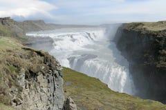 Gullfoss vattenfall arkivbilder