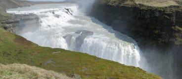 Gullfoss vattenfall royaltyfria foton