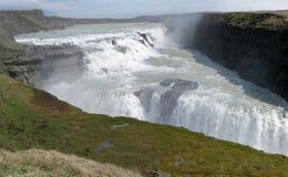 Gullfoss vattenfall royaltyfria bilder