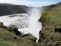 Gullfoss vattenfall arkivfoto
