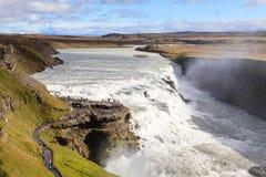 Gullfoss vattenfall Arkivbild