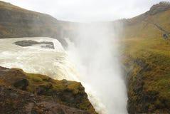 Gullfoss vattenfall i höst Arkivfoto