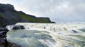 Gullfoss vattenfall i Island Fotografering för Bildbyråer