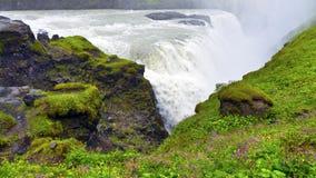 Gullfoss vattenfall i Island royaltyfria bilder