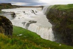 Gullfoss vattenfall iceland royaltyfri foto