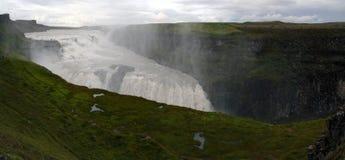 Gullfoss vattenfall, sydvästliga Island Royaltyfri Bild