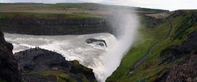 Gullfoss vattenfall, sydvästliga Island Royaltyfria Foton