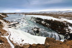 Gullfoss view Royalty Free Stock Images