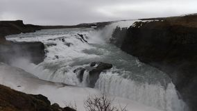 Gullfoss-Wasserfälle in Island 4K stock video footage