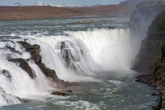 Gullfoss - Wasserfall, ö Royaltyfria Bilder
