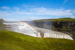Gullfoss Wasserfall Stockfotos